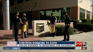 Chevron donates to KCFD, $50,000 awarded to Kern County Fire Department for equipment.