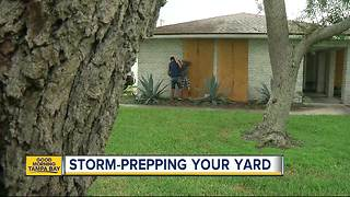 Hurricane prep your yard: Grills can come inside, propane tanks can't - Video