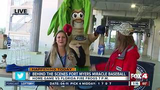 Fort Myers Miracle home game preview -- 7am live report - Video