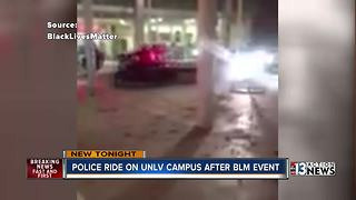 Black Lives Matter students, police in tense moments at UNLV - Video