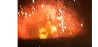 Huge Explosion Seen Following Strike on Syrian Military Base in Hama - Video