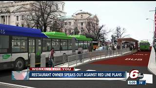 Restaurant owner speaks out against red line rapid transit plans - Video