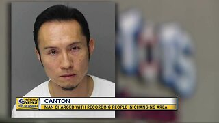 Man charged with recording people in changing area in Canton