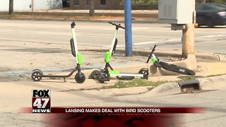 Lansing works out deal with 2 scooter companies - Video