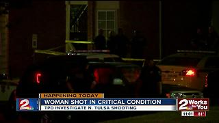 Woman in critical condition after overnight shooting in North Tulsa - Video