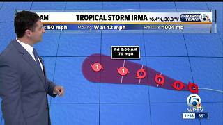 Tropical Storm Irma forms in the eastern Atlantic Ocean - Video