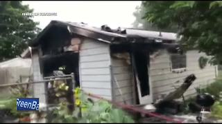 Grill sparks garage fire in Fond du Lac - Video
