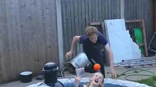Kid Throws Ball At Little Sister, Receives Instant Karma