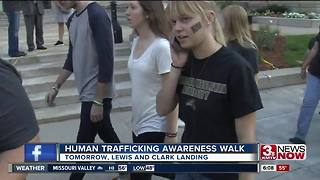 Human trafficking awareness walk - Video