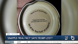 Fact or Fiction: Trump election Snapple lid fact?