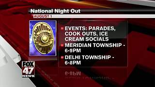 National Night Out events around Mid-Michigan - Video