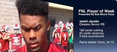 Player of the week Issiah Jacobs Oct 4th