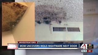 Neighbor's black mold forces family from home - Video