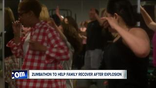 Zmbathon to help family after house explosion - Video
