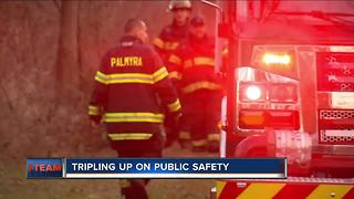 Palmyra first responders triple up on public safety duties - Video