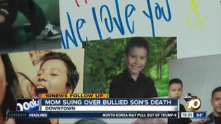 Mother files lawsuit over bullied son's death - Video