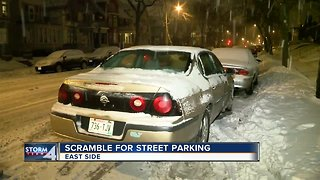 Winter parking regulations in effect during snowstorm