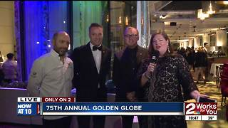 Celebrities arrive at Golden Globes NBC after party