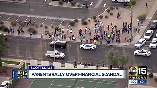 Parents rally over financial scandal in Scottsdale school district - Video