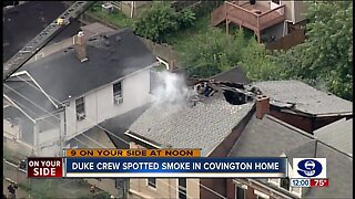 House catches fire in Covington