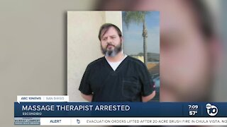 Massage therapist arrested
