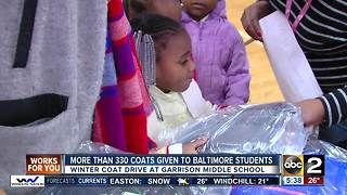 More than 330 coats given to Baltimore students - Video