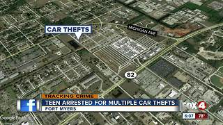 Teenager accused of stealing multiple cars
