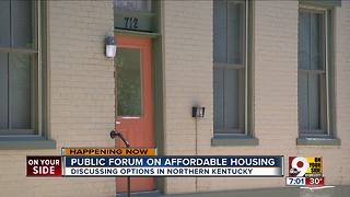 Public forum on affordable housing - Video