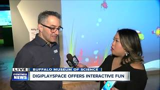 Interactive aquarium at Buffalo Museum of Science DigiPlaySpace - Video