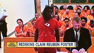 Redskins claim Reuben Foster after arrest in Tampa