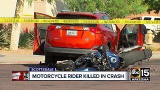 Motorcycle rider killed in crash