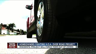 HOA Presidents moves forward with road project despite community outcry - Video