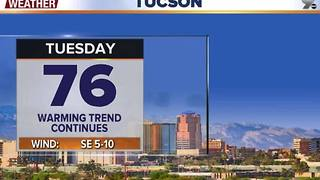 Chief Meteorologist Erin Christiansen's KGUN 9 Forecast Monday, December 12, 2016 - Video