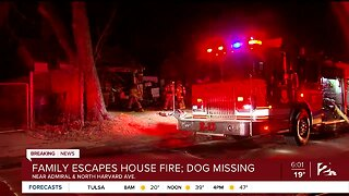 Family Escapes House Fire, Dog Still Missing