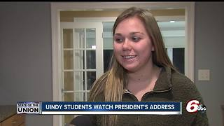 University of Indianapolis students discuss President Trump's State of the Union address - Video