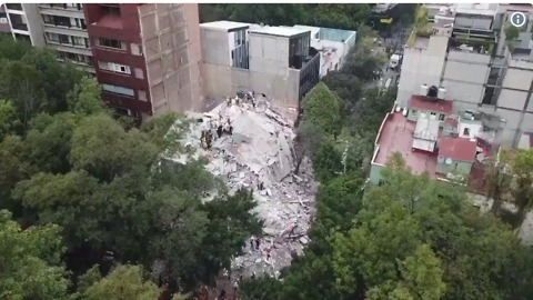 Mexico City Earthquake Topples Some Buildings, Leaves Others Standing