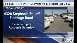 Clark County preparing for government surplus auction Saturday - Video