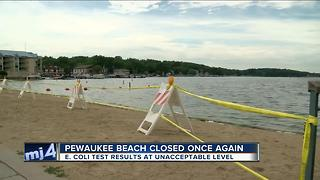 E-coli forces closure of Pewaukee Lake beach - Video
