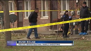 2 dead in triple shooting at home in River Rouge