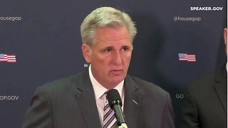 House Majority Leader Kevin McCarthy talks about how congress is helping those affected by disasters - Video