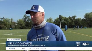 Rockhurst football preps for first game under Kelly Donohoe