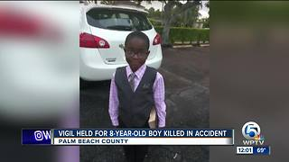 Vigil held for 8-year-old boy killed in accident