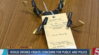 Rogue Drones Creating Concerns For Police And The Public - Video
