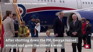 Prince George Leaves Canada's Justin Trudeau Hangin' - Video