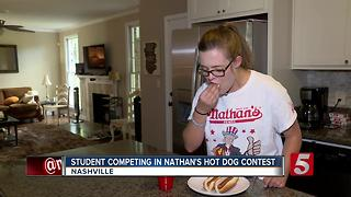 Belmont Student To Compete In Nathan's Famous Hot Dog Eating Contest - Video