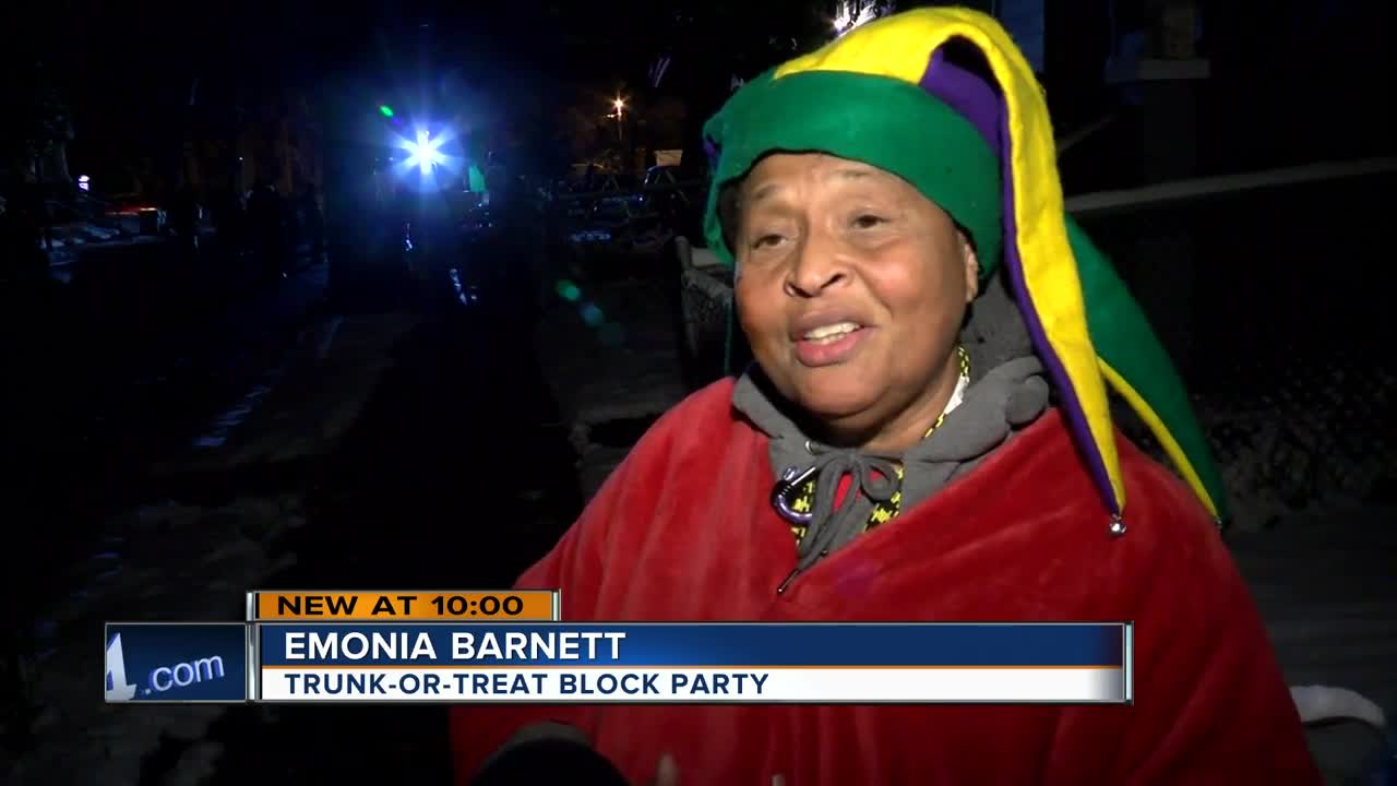 Trunk-or-treat block party brings people together