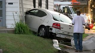 Car crashes into house on northwest side
