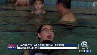 World's Largest Swim Lesson - Video