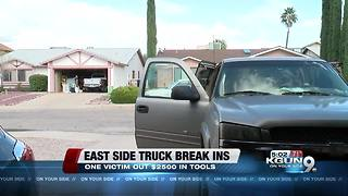 Two east side vehicles targeted in