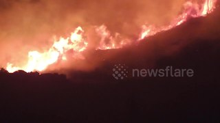 Close up footage shows ferocious Saddleworth Moor blaze - Video